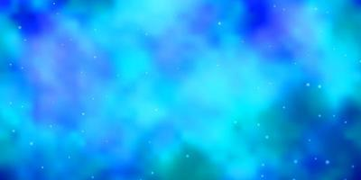 fundo vector azul claro com estrelas coloridas.