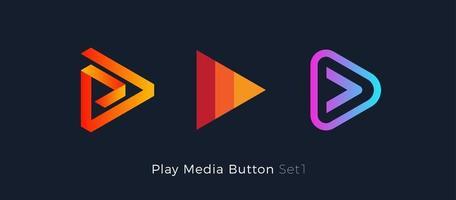 sinal stert de música e filme, logotipo do editor de áudio e vídeo. vetor