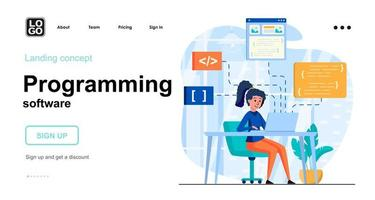 conceito web de software de programação vetor