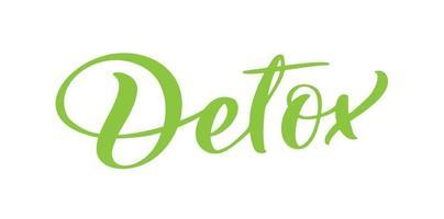 letras de logotipo de vetor de texto de desintoxicação isoladas no fundo branco.