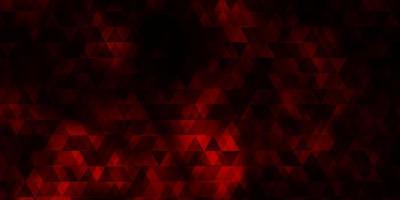 textura vector vermelho escuro com linhas, triângulos.