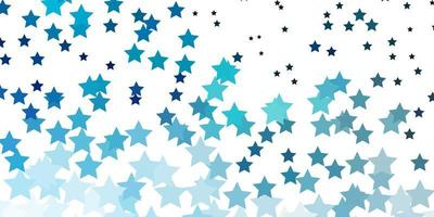 textura vector azul claro com lindas estrelas.
