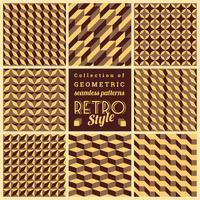 Conjunto de padrões geométricos sem emenda de vetor. Texturas vintage