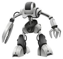Robô design com armas de mãos