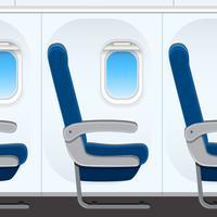 Passesnger assento de avião templaye vetor