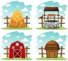 Coisas diferentes na fazenda vetor