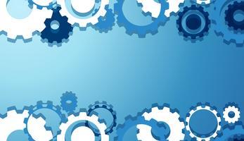Papel de Parede de Engrenagens de Engenharia em Azul