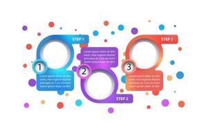modelo de infográfico de vetor de negócios multicoloridos