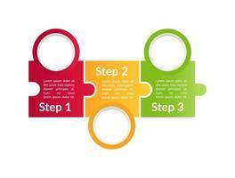modelo de infográfico de vetor de instrução multicolor