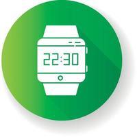 pulso smartwatch design plano ícone de glifo de sombra longa vetor
