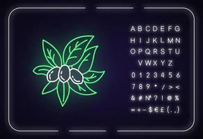 ícone de luz neon jojoba vetor