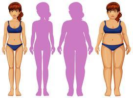 Corpo Feminino e Sombra vetor