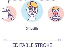 ícone do conceito de sinusite vetor