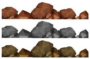 Design sem costura de rochas vetor
