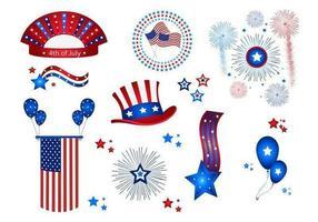 11 vetores de celebração do 4 de julho