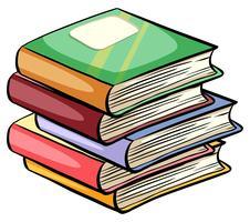 Uma pilha de livros vetor