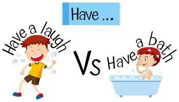 Frases em inglês que começam com have vetor