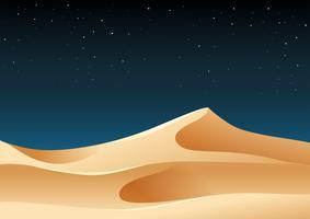 Areia do deserto na ilustração da noite vetor