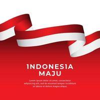 modelo de banners de bandeira da indonésia vetor