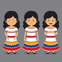 personagem da venezuela com várias expressões vetor