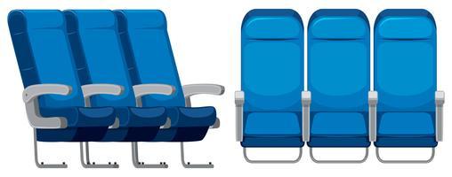 Conjunto de assento de avião vetor