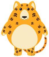 Leopardo com cara feliz vetor