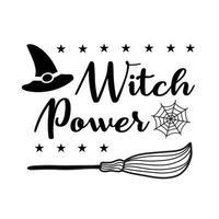 inscrição do poder da bruxa projetada para o dia das bruxas vetor