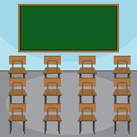 Cena de uma sala de aula vetor