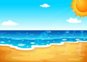 Um verão na praia vetor