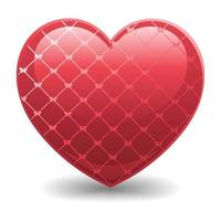 ilustração realista 3d do ícone do amor vetor