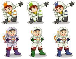 Jovens astronautas vetor