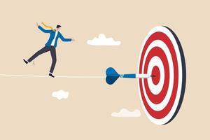 desafio para superar a dificuldade e atingir a meta de negócios vetor
