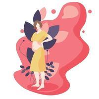 ilustração de mulher grávida de estilo simples vetor