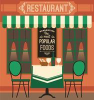 Vector design plano moderno ilustração do restaurante.
