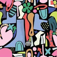 vetor colorido abstrato e forma artística padrão sem emenda