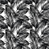 Sem costura padrão exótico com folhas de palmeira.