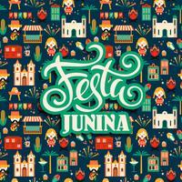 Feriado da América Latina, a festa junina do Brasil. Ilustração vetorial vetor