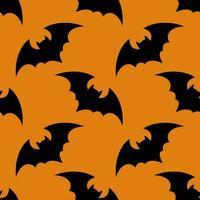 padrão brilhante com morcegos pretos vetor