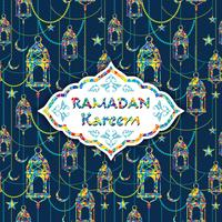 Ramadan Kareem. Ilustração vetorial. vetor