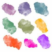 coleção de manchas de tinta aquarela vetor abstrato.