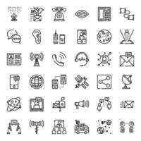ícone de evolução da comunicação vetor