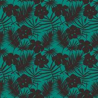 Sem costura padrão exótico com plantas tropicais.