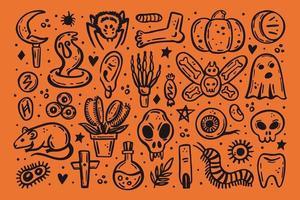 ilustração de halloween, veneno, morte, perigo vetor