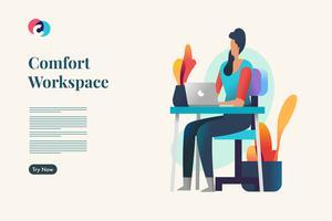 Espaço de trabalho confortável