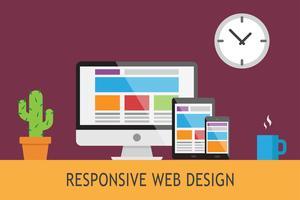 Web design responsivo vetor