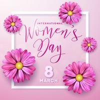 Cartão do dia das mulheres