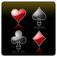 ilustração de jogos de azar com elementos de cassino