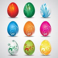 Coleção de ovos de Páscoa de vetor