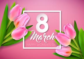 Cartão do dia das mulheres vetor