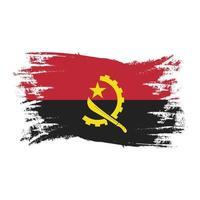 bandeira de angola com aquarela pincel estilo vetor